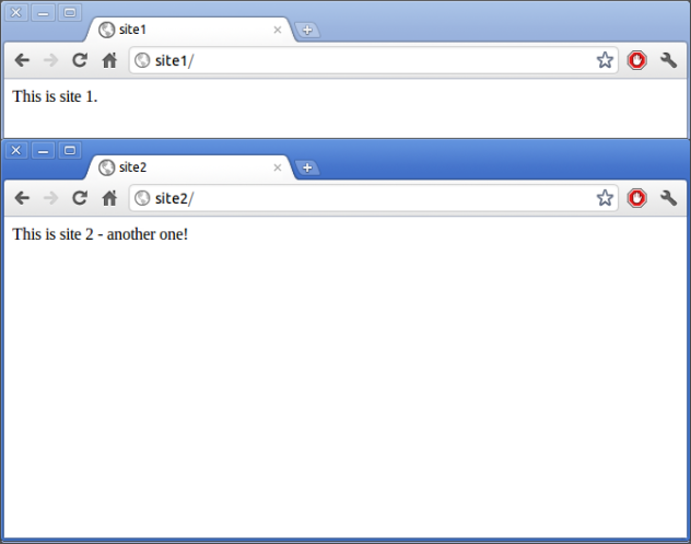 Screenshot - Chromium showing both the sites